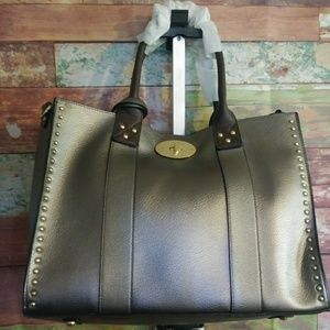 Metallic/Studded Diopathy handbag 4 pc.